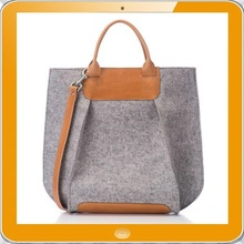 Direct factory OEM top grade quality 100% wool felt tote bag