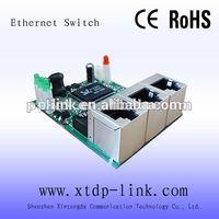 100Mbps Link/Act 5V power OEM 3 Port fast ethernet switch Module/board