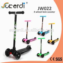 CE certificated 120/100mm aluminum 4 PU wheel scooter big wheel scooter