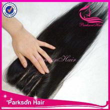 100% human hair lace closures cheap factory price silk top closure fashion 3 part silk base lace closure