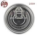 De aluminio de 209 # de latas de bebidas y tapas para el jugo de embalaje pop tapa de venta al por mayor