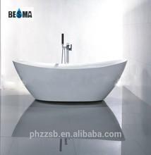 BESMA New Style Custom Size Portable Plastic Bathtubs for Adult;ship shaped acrylic bathtub B-7114