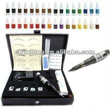 Hot Selling High Quality Black Machine 32 Ink Permanent Makeup Machine& pmu Kit MK-0019