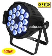 Guangzhou Ousineng lighting wonderful LED 18*4in1*10w rgbw par can light