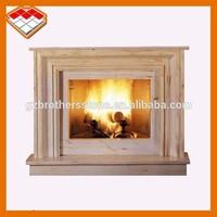 Indoor used freestanding antique marble Indian beige fireplace