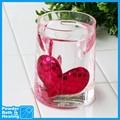 rosa corazón de acrílico vaso para cuarto de baño conjuntos de accesorios