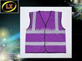 Chaleco Reflector de Seguridad Púrpura de Alta Visibilidad