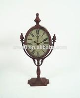 Retro french metal floor standing clocks