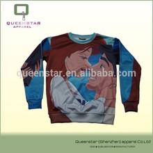 China manufaturer adorable sublimated sweatshirts