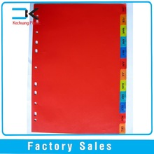 11-Hole PP File Index Divider in different color
