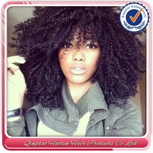 stock factory price afro kinky curly 100% unprocessed virgin brazilian hair full lace wig