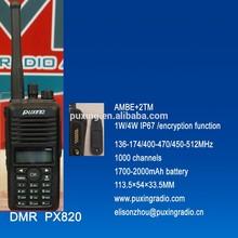 PUXING professional DMR radio PX-820 1W AMBE+2TM IP67 encryption