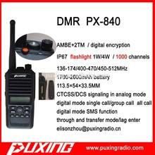 DMR radio PX-840 PUXING professional OEM AMBE+2TM IP67 digital encryption