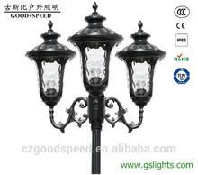 GSB G01Three Heads Cheap outdoor garden lamp post