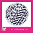 Wholesale Round Beach Towel with Tassels, 100 Cotton Turkish Printed Beach Towel in Stock!