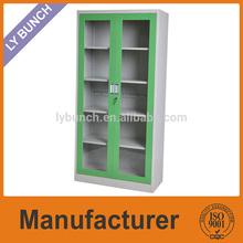 Glass door furniture cabinet,steel cupboard,steel godrej cupboard