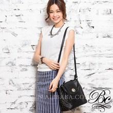 New lady style Black Fashion PU leather bag Shoulder bag