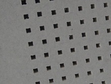 fibrous water/fire resistant gypsum perforated ceiling board