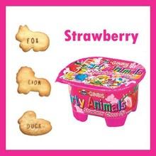 productos de confitería sabor fresa galletas de dibujos animados comida para bebés