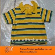 Kid's Brand Strip Blank Polo T-shirt PLain