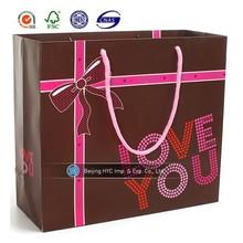 2015 new designed OEM product Valentine gift paper bag paper bag for Valentine's Day