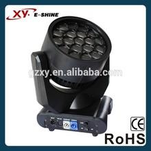 Professional factory 19pcs 15w rgbw led bee eye led wash moving head lighting