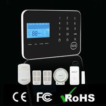 Wireless Home Security DIY Burglar Safe House Alarm System GSM+PSTN Android & IOS APP