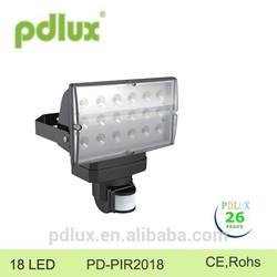 Pdlux motion sensor LED floodlighting PD-PIR2018 18led
