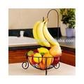 Fruteira & Detatchable Banana cabide de ferro forjado cozinha organizador preto início