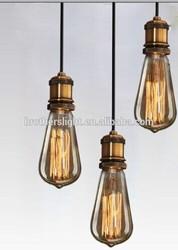 String Cord Base Pendant Light Lamp Ceiling Vintage Antique Filament Retro ST64