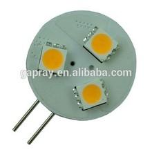 2-pin CE RoHS 0.7w 5050 3smd led g4 ac dc
