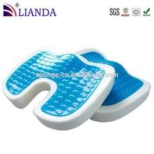 coccyx orthopedic memory foam gel cushion, gel seat cushion, gel wheelchair cushion