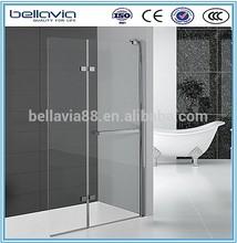6mm clear glass ,Pivot folding doors shower enclosure,glass shower screen