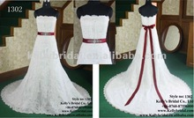 Hot sale Overlay lace and beaded arabic wedding dresses 2012