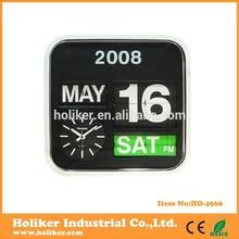 Hot sale Popular Flip Flap Calendar Wall Clock