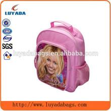 Poliéster cor de rosa meninas smiley face sacos mochila / escola