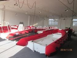 China liya 4.3m 5.0m rib hypalon inflatable boat aluminium floor inflatable boat