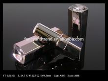 FT-LS0301 METALLIC Hexagonal ABS Lipstick Packaging with Crystal