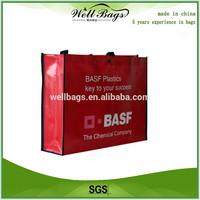 2015 fashion shopping bag laminated non woven bag PP woven bag wholesale