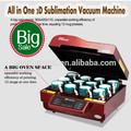 3d vácuo sublimação térmica máquina daimprensa