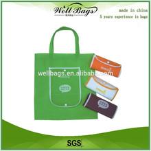 Factory price wholesale non woven folding bag,foldable tote bag