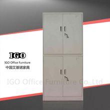 IGO-Furniture metal 4 compartment wardrobe bedroom furniture / 2 doors custom made steel wardrobe