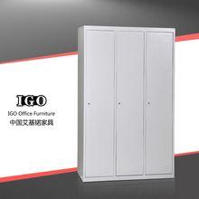IGO-024 3 door metal wardrobe colorful combination cold-rolled steel wardrobe for bedroom
