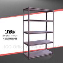 IGO-Furniture Metal goods storage shelf goods shelf design steelen bookshelf