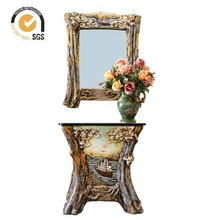 Fashion style polyresin bathroom furniture