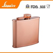personalized high quality 6oz stainless steel copper flask alcohol