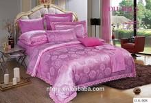 Luxury wedding embroidery cotton comforter set european silk jacquard 3d bedding king size 100% cotton fabric bed sheet set