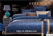 Luxury wedding modern bed sheet sets 100% cotton 3d embroidery king comforter sets king size european silk jacquard bedding