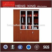 Excellent workmanship office style semi-glass wooden cabinet & file cabinet HX-4FL012