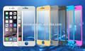 Venta caliente 3d de aleación de titanio templado de vidrio protector de pantalla para iphone6/plus